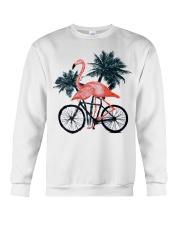 Flamingo bicycle Crewneck Sweatshirt thumbnail