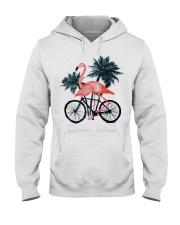 Flamingo bicycle Hooded Sweatshirt thumbnail