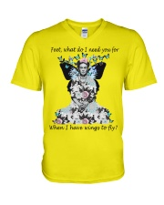 What do I need you for when I have wings to fly V-Neck T-Shirt thumbnail