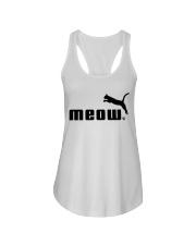 Meow Ladies Flowy Tank thumbnail