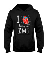 I love being an EMT Hooded Sweatshirt thumbnail