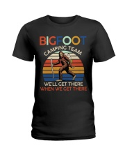 Bigfoot camping team Ladies T-Shirt thumbnail