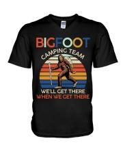 Bigfoot camping team V-Neck T-Shirt thumbnail