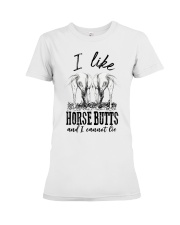 I like horse butts and i cannot lie Premium Fit Ladies Tee thumbnail