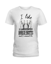 I like horse butts and i cannot lie Ladies T-Shirt thumbnail