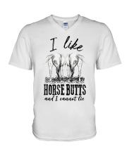 I like horse butts and i cannot lie V-Neck T-Shirt thumbnail