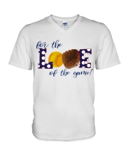 For the love of the game V-Neck T-Shirt thumbnail