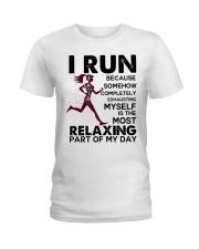 I run Ladies T-Shirt front