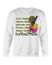 Softball mom Crewneck Sweatshirt thumbnail