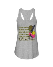 Softball mom Ladies Flowy Tank thumbnail