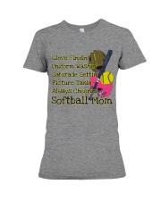 Softball mom Premium Fit Ladies Tee thumbnail