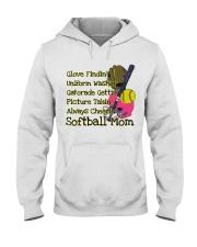 Softball mom Hooded Sweatshirt thumbnail