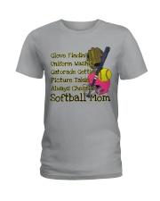 Softball mom Ladies T-Shirt front