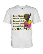 Softball mom V-Neck T-Shirt thumbnail