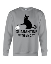 Quarantine with my cat Crewneck Sweatshirt thumbnail