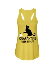 Quarantine with my cat Ladies Flowy Tank thumbnail