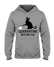 Quarantine with my cat Hooded Sweatshirt thumbnail