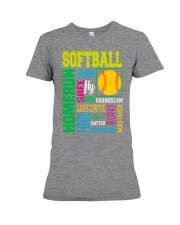 Softball Premium Fit Ladies Tee thumbnail