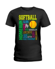 Softball Ladies T-Shirt front