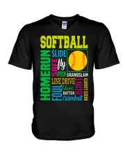 Softball V-Neck T-Shirt thumbnail