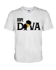 Dope diva V-Neck T-Shirt thumbnail