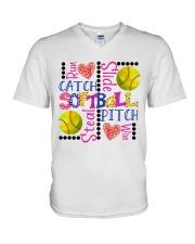 Softball V-Neck T-Shirt thumbnail