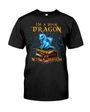I'm a book dragon not a worm Premium Fit Mens Tee thumbnail
