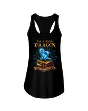 I'm a book dragon not a worm Ladies Flowy Tank thumbnail