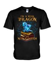 I'm a book dragon not a worm V-Neck T-Shirt thumbnail