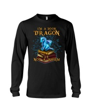 I'm a book dragon not a worm Long Sleeve Tee thumbnail