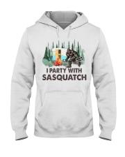 I party with sasquatch Hooded Sweatshirt thumbnail