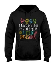 I love my job for all the little reasons Hooded Sweatshirt thumbnail