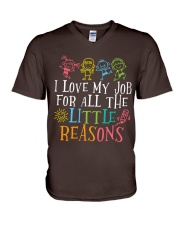 I love my job for all the little reasons V-Neck T-Shirt thumbnail