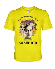 She believed she could so she did V-Neck T-Shirt thumbnail