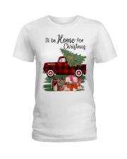 I'll be home for christmas Ladies T-Shirt thumbnail