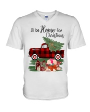 I'll be home for christmas V-Neck T-Shirt thumbnail