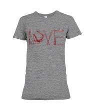 Love softball Premium Fit Ladies Tee thumbnail