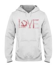 Love softball Hooded Sweatshirt thumbnail