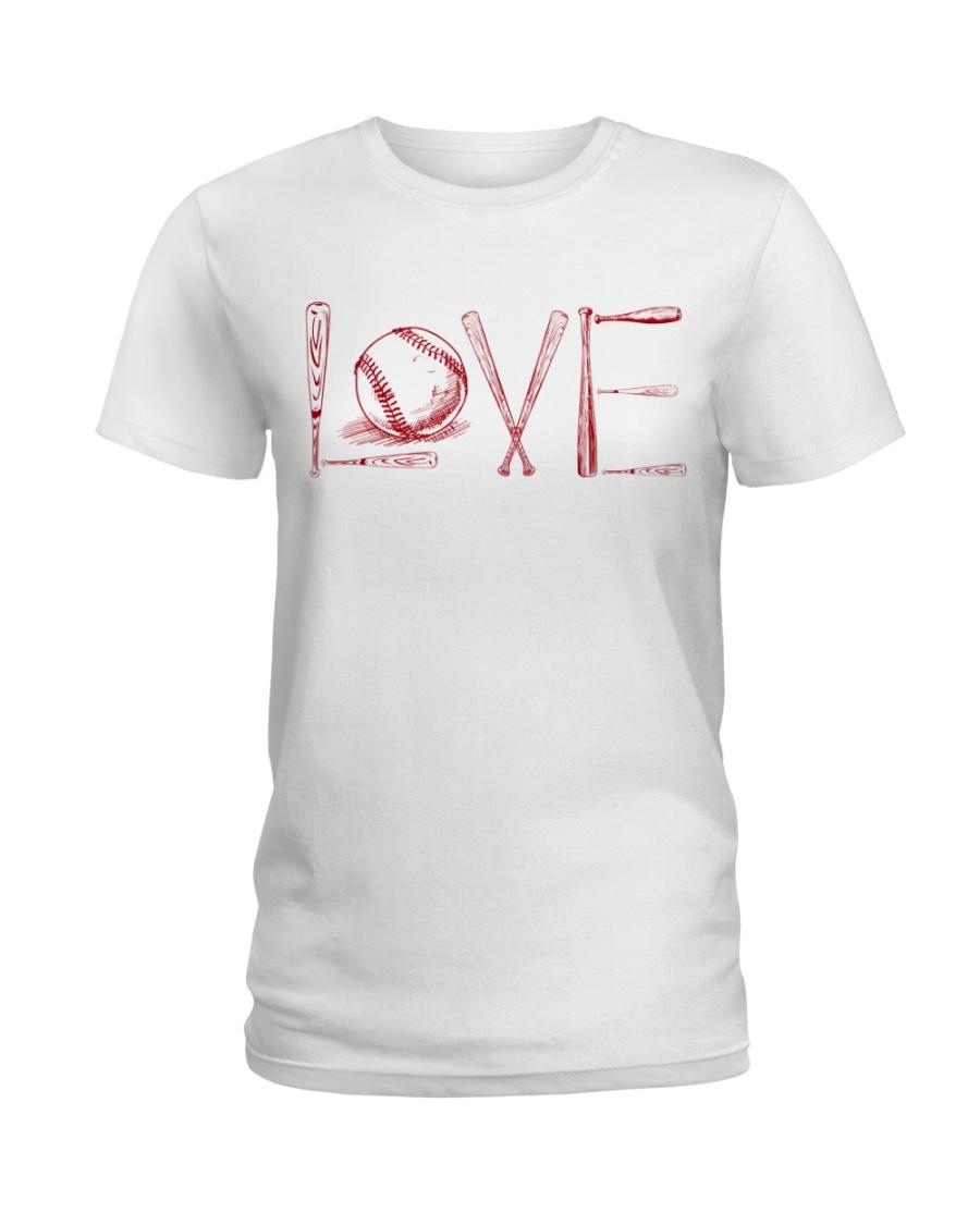 Love softball Ladies T-Shirt