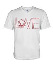 Love softball V-Neck T-Shirt thumbnail