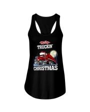 Merry truckin' christmas Ladies Flowy Tank thumbnail