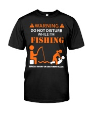 Warning Fishing Classic T-Shirt front