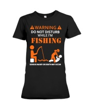 Warning Fishing Premium Fit Ladies Tee tile