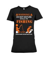 Warning Fishing Premium Fit Ladies Tee thumbnail