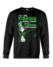 Fishing Everyhwere Crewneck Sweatshirt thumbnail
