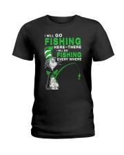 Fishing Everyhwere Ladies T-Shirt thumbnail