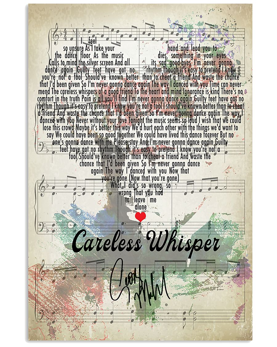 Careless Whisper - George Michael 11x17 Poster