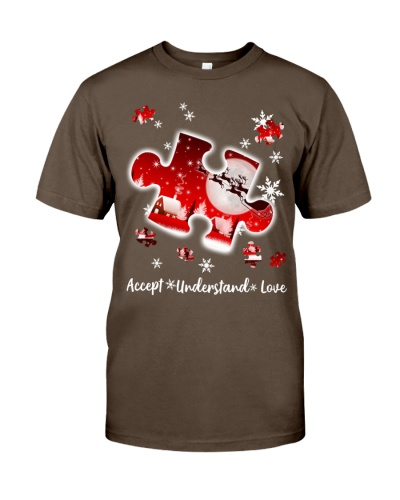 Accept Understand Love Autism Christmas