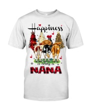 Happiness is being a nana cow christmas Classic T-Shirt front