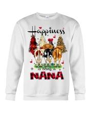 Happiness is being a nana cow christmas Crewneck Sweatshirt tile
